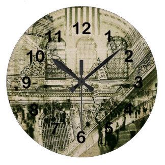 壮大な中央場所、NYC ラージ壁時計