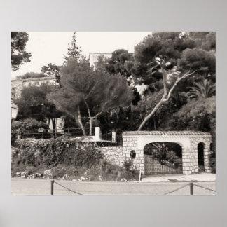 壮大な別荘への入口、ニース、リビエラ ポスター