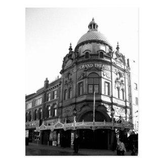 壮大な劇場ブラックプールB/W ポストカード
