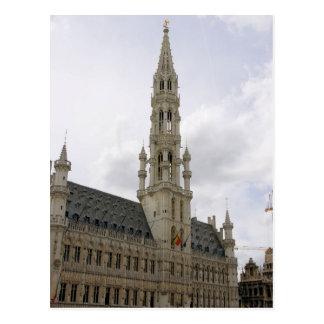 壮大な場所-ブリュッセル、ベルギーの郵便はがき ポストカード