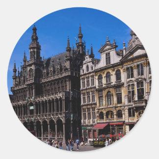 壮大な場所、ブリュッセル、ベルギー ラウンドシール