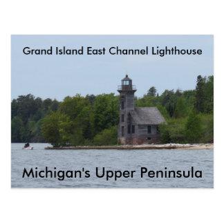 壮大な島東チャネルの灯台 ポストカード