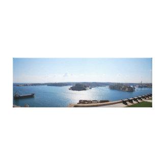 壮大な港、マルタ キャンバスプリント