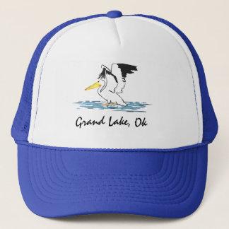 壮大な湖の帽子のペリカン キャップ