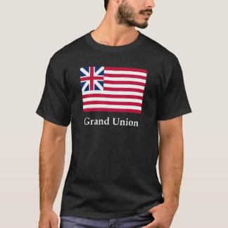壮大な英国旗および名前 Tシャツ