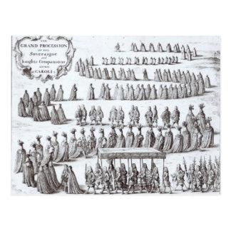 壮大な行列主権者および騎士 ポストカード