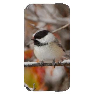壮大な雪の大人によって黒おおわれる《鳥》アメリカゴガラ INCIPIO WATSON™ iPhone 6 財布ケース