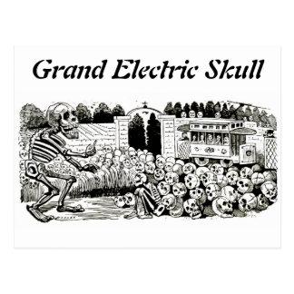 壮大な電気スカルの郵便はがき ポストカード