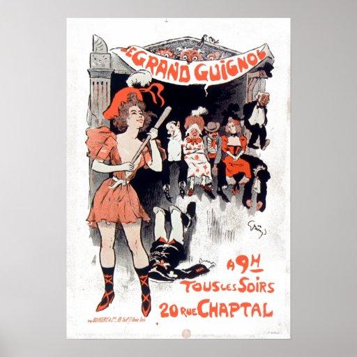 壮大なGuignol Vintage Le Theatrere DU ポスター