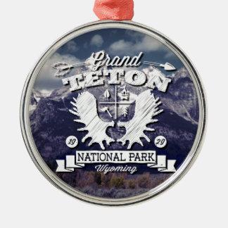 壮大なTetonのキャンピングカーのロゴ メタルオーナメント