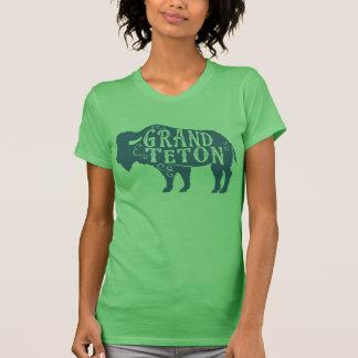 壮大なTetonのバッファローの深緑色 Tシャツ