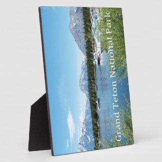 壮大なTetonの国立公園の景色の写真撮影 フォトプラーク