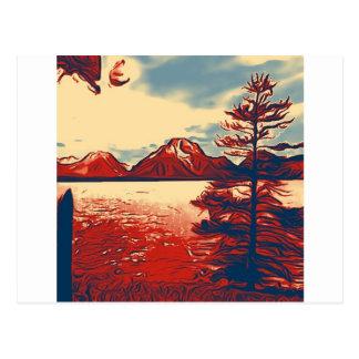 壮大なTetonの国立公園の芸術 ポストカード