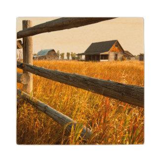 壮大なTetonの農場の家そしてレールフェンス ウッドコースター