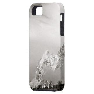 壮大なTETON上の白黒冬の景色 iPhone SE/5/5s ケース