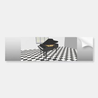 壮大 ピアノ 及び タイル 床: 3D モデル: バンパーステッカー