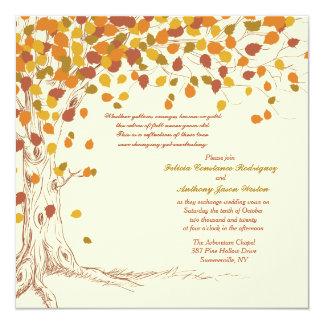 壮麗な秋の結婚式の招待状 カード