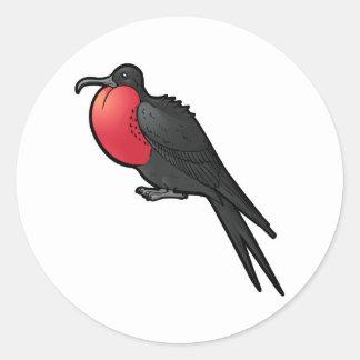 壮麗なFrigatebird ラウンドシール