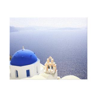 壮麗のSantoriniの青 キャンバスプリント