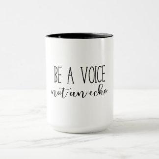 声がないエコーの確実の引用文のマグあって下さい マグカップ