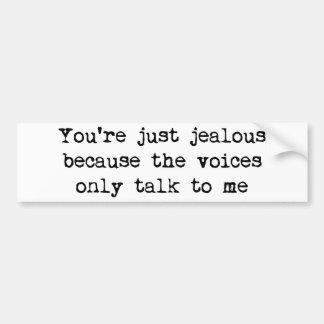 声の私への話だけ バンパーステッカー