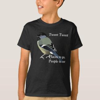声喩の単語のさえずり Tシャツ