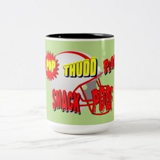声喩の単語、THUDDの…考えるなフットボールぽんと鳴ります ツートーンマグカップ
