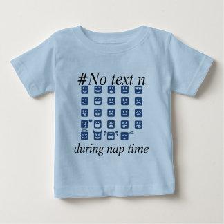 声喩のzzzZZの昼寝の時間顔文字 ベビーTシャツ