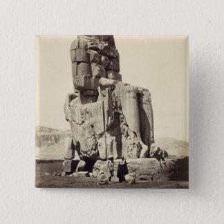 「声Memnon」、Amenhotep Iの巨大な彫像 5.1cm 正方形バッジ