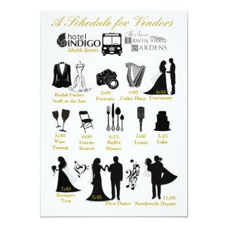 売り手のための結婚式のIteneraryのスケジュール カード