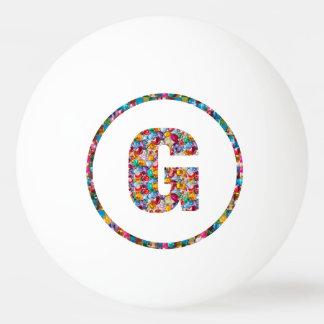 売出価格のアルファベットの芸術GGG G GG 3*のピンポン球 ピンポンボール