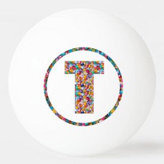 売出価格のアルファベットの芸術TTT 3*のピンポン球 卓球ボール