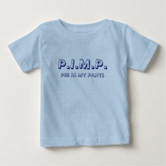 売春あっせん業者(私のズボンの小便)の新生児のワイシャツ1 ベビーTシャツ