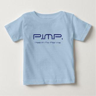 売春あっせん業者(私のズボンの小便)の新生児のワイシャツ3のサイファイ ベビーTシャツ