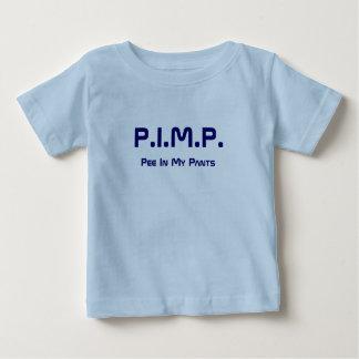 売春あっせん業者(私のズボンの小便)の新生児のワイシャツ6の宇宙 ベビーTシャツ