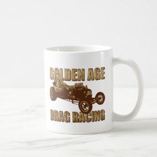 変えられたホイール・ベースを競争させる黄金時代のドラッグ コーヒーマグカップ