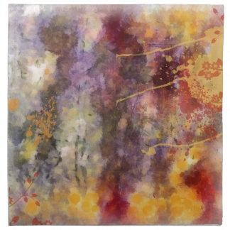 変えられた花の芸術-暖かい調子 ナプキンクロス