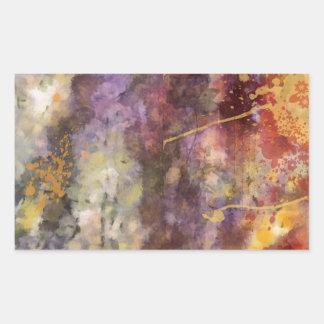 変えられた花の芸術-暖かい調子 長方形シール