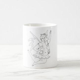 (変な)妖精のマグ コーヒーマグカップ