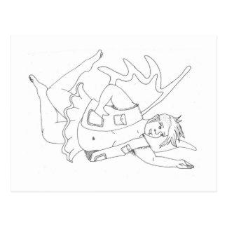 (変な)妖精の郵便はがき ポストカード