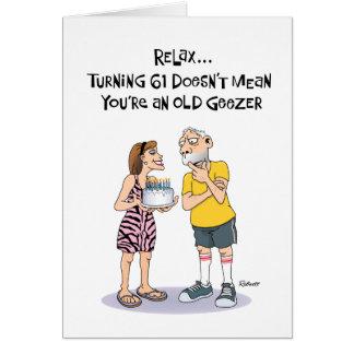 変わり者の第61誕生日の挨拶 カード