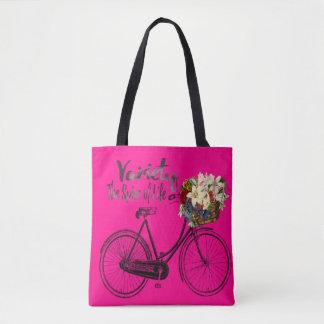変化生命バイクのピンクのトートバックのスパイス トートバッグ