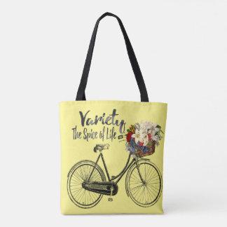 変化生命バイクの黄色のトートバックのスパイス トートバッグ