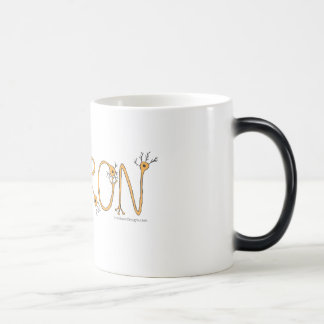 変形させるマグ-オレンジニューロンおよび若草色のbord マジックマグカップ