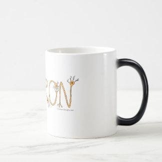 変形させるマグ-オレンジニューロンおよび若草色のbord モーフィングマグカップ