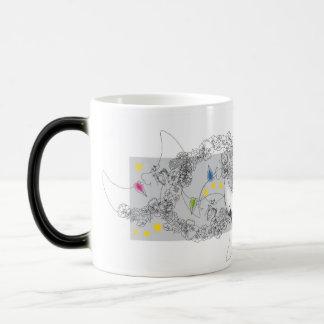 変形させる多くの月デザイナーマグ マジックマグカップ