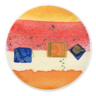 変態の抽象美術の陶磁器の引出しの引き セラミックノブ