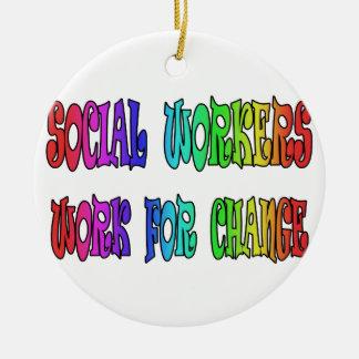 変更のためのソーシャルワーカーの仕事 セラミックオーナメント