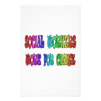 変更のためのソーシャルワーカーの仕事 便箋