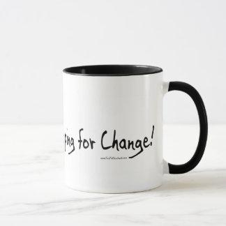 変更のアンチオバマのギアをまだ望みます マグカップ